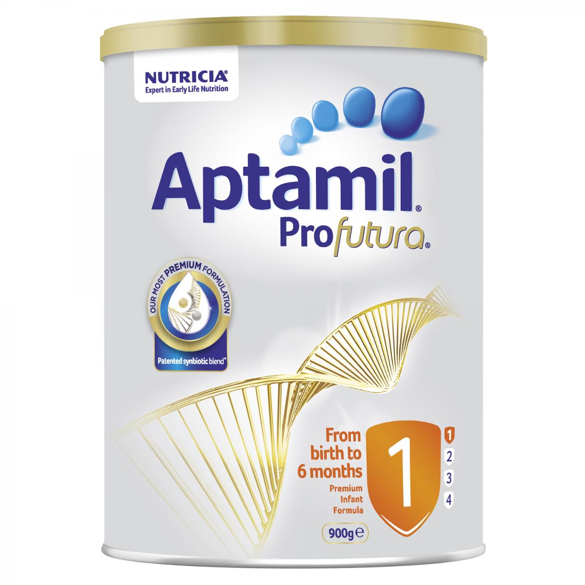 Sữa Aptamil Profutura Úc số 1,2,3,4 hộp 900g cho bé