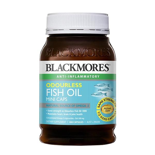 Blackmores Odourless Fish Oil Mini Caps dầu cá 1000mg lọ 400 viên