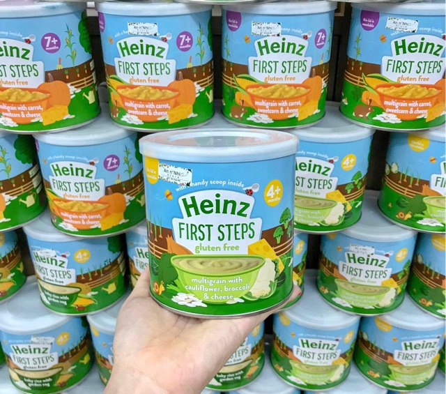 Bột ăn dặm Heinz của Anh hộp 200g