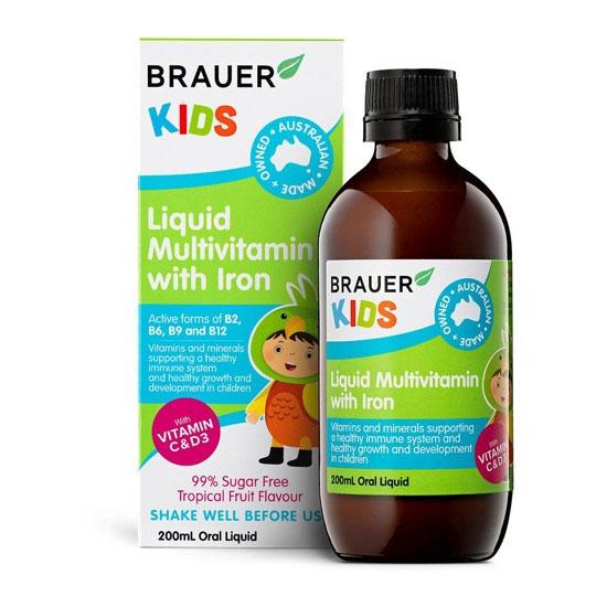 Brauer Kids Liquid Multivitamin with Iron