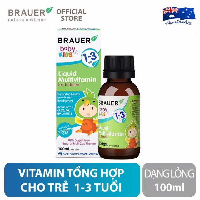 Brauer Liquid Multivitamin for Toddlers (1-3y)