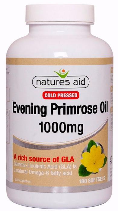 Evening Primrose Oil - Tinh dầu hoa anh thảo Natures Aid 180 viên