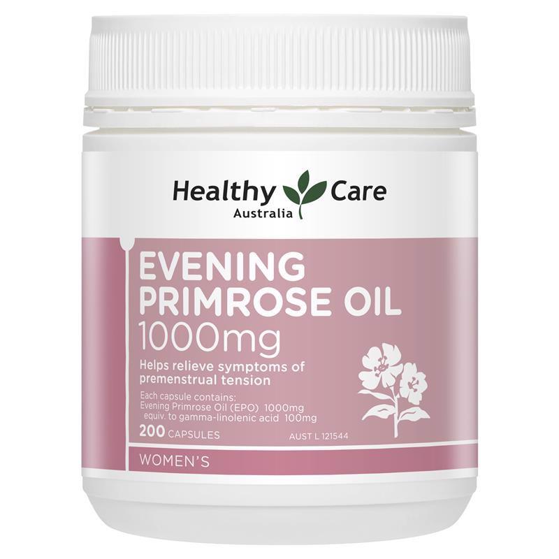 Tinh dầu hoa anh thảo Healthy Care Evening Primrose Oil hộp 200 viên
