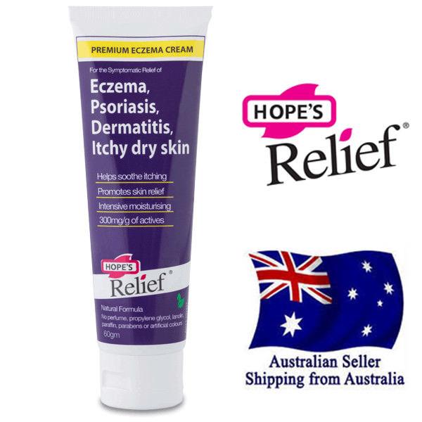 Kem điều trị Eczema, vẩy nến, viêm da Hopes Relief 60g nội địa Úc