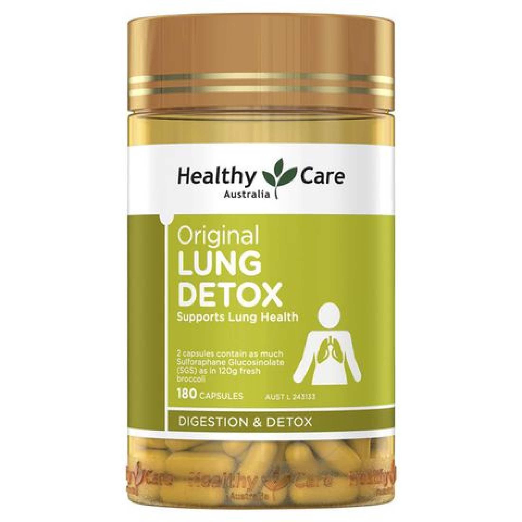 Lung Detox - Viên Hỗ Trợ Thải Độc Phổi Healthy Care Original