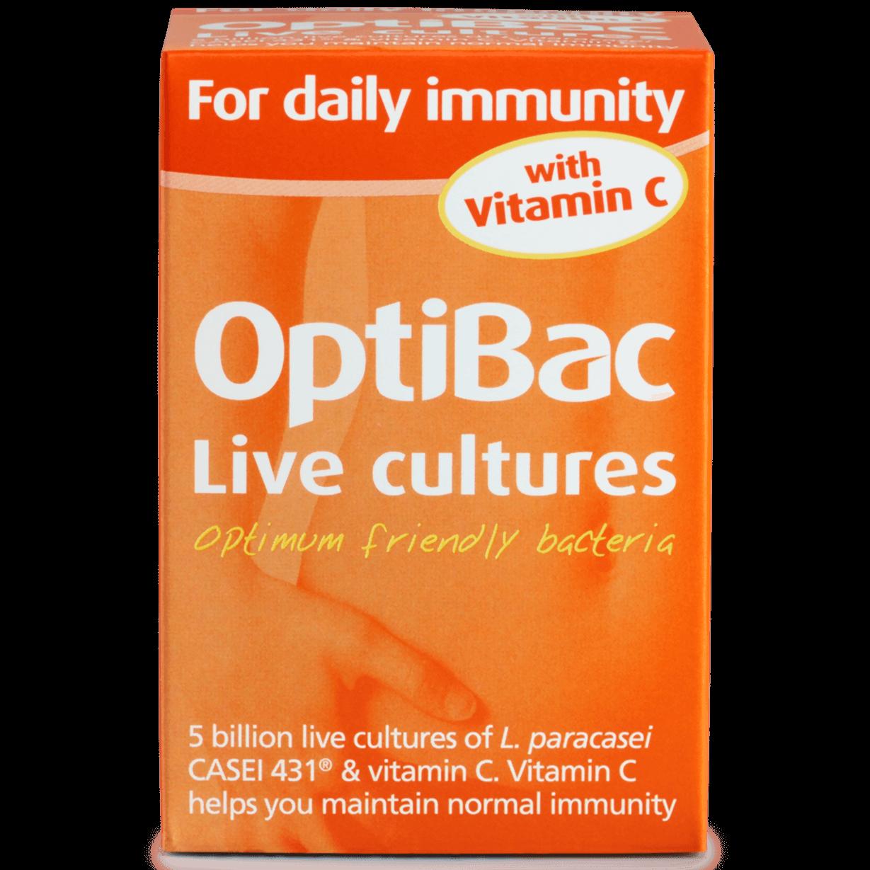 Optibac tăng đề kháng với Vitamin C - Optibac for Daily Immunity