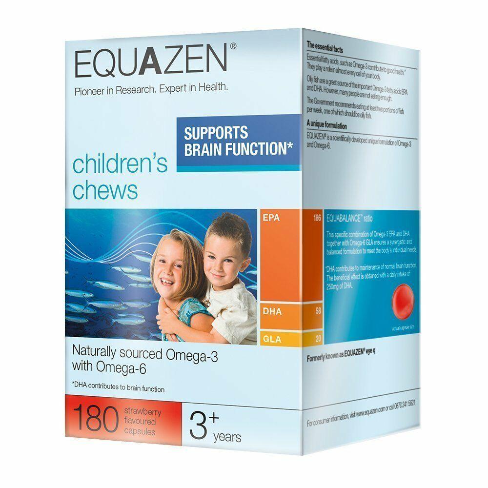 Equazen Chews 180 viên bổ sung Dha - Omega cho trẻ từ 3 tuổi trở lên