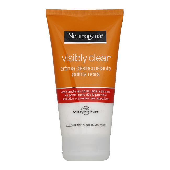 Sữa Rửa Mặt Neutrogena Visibly Clear Crème Désincrustant Points Noirs Loại Bỏ Mụn Đầu Đen, Mụn Nhỏ Li Ti