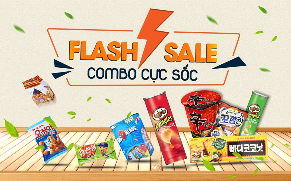 [CTKM] HAPPY WEDNESDAY || FLASH SALE 70% - COMBO CỰC SỐC