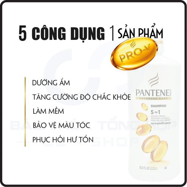5 công dụng trong 1 sản phẩm Pantene Pro V Advanced Care Shampoo Mỹ