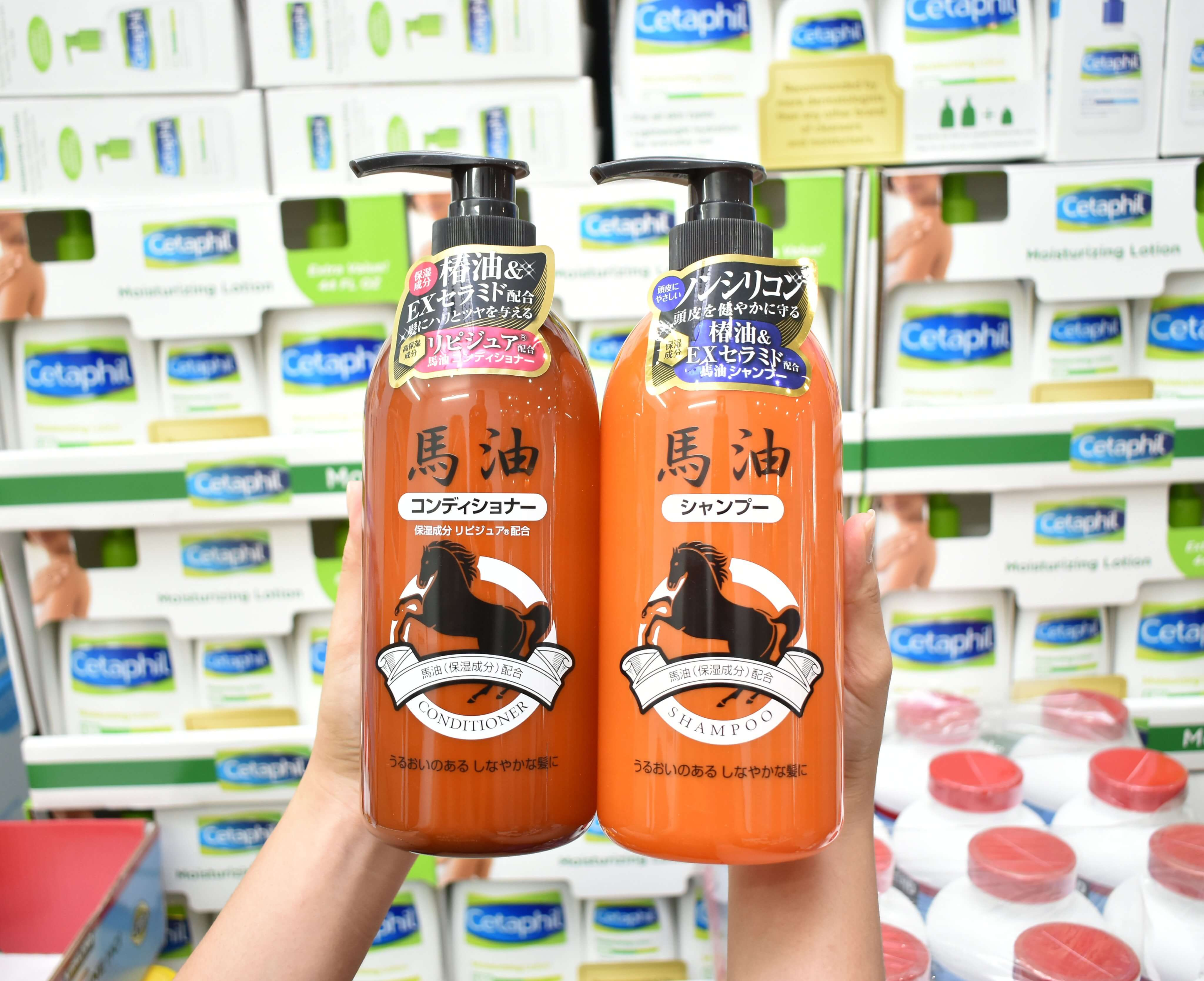 dau goi tinh chat mo ngua kumano horse oil 800ml  chai