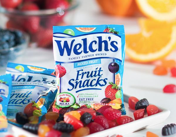 Kẹo Dẻo Trái Cây Mỹ Welch's Fruit Snacks thích hợp cho trẻ em lẫn người lớn
