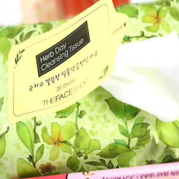 Khăn Ướt Tẩy Trang The Face Shop Herb Day Cleansing Tissue CC Shop