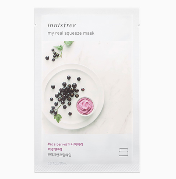 Mặt nạ giấy Innisfree My Real Squeeze Mask Quả Acai Berry
