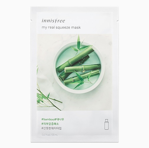 Mặt nạ giấy Innisfree My Real Squeeze Mask Bamboo Hương tre