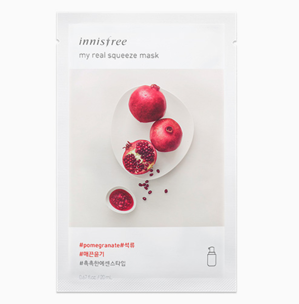 Mặt nạ giấy Innisfree My Real Squeeze Mask Pomegranate