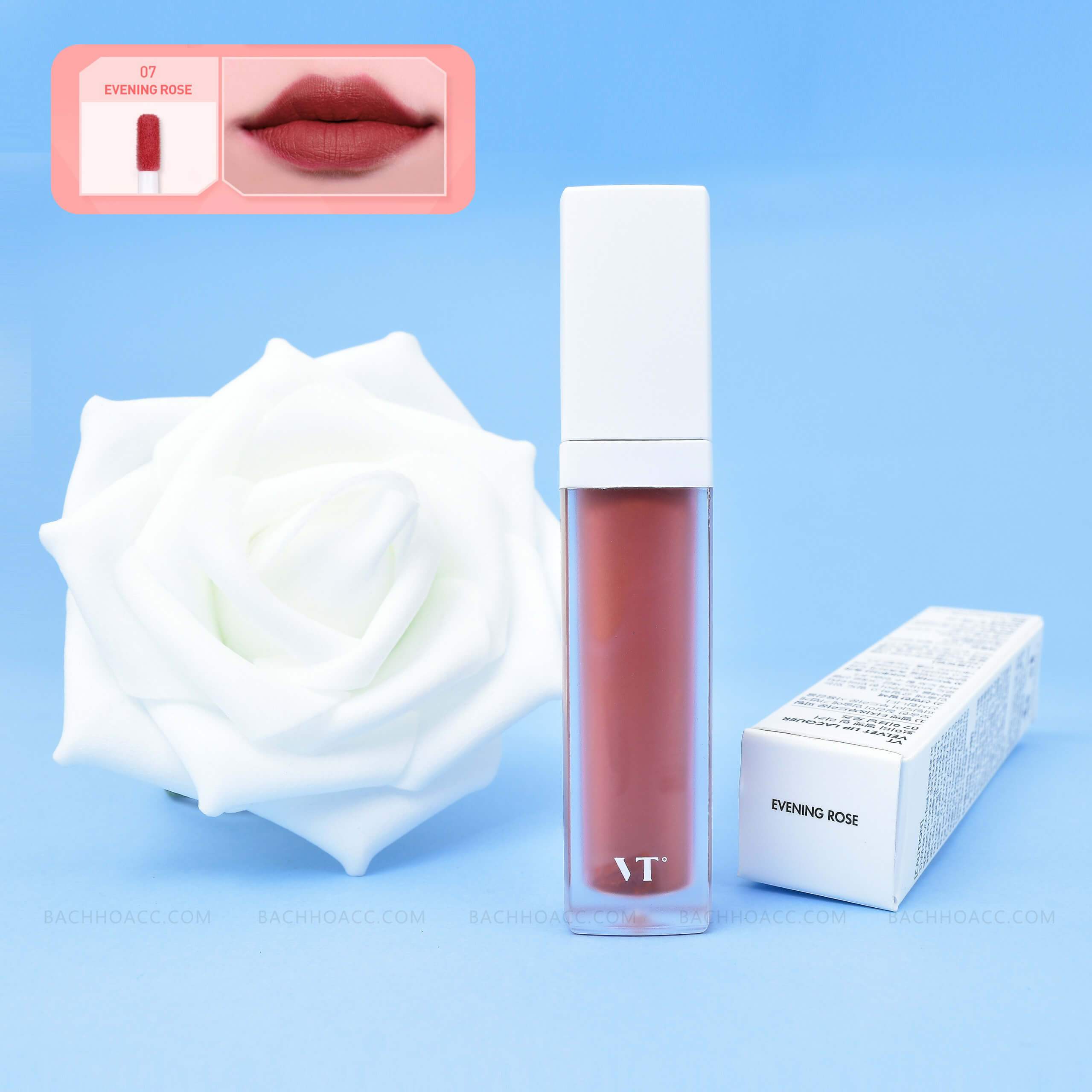 Son kem VT Velvet Lip Lacquer Evening Rose Số 7 HQ