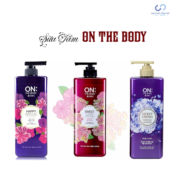 Sữa tắm hương hoa ly On The Body Violet Dream Perfume Wash 900ml