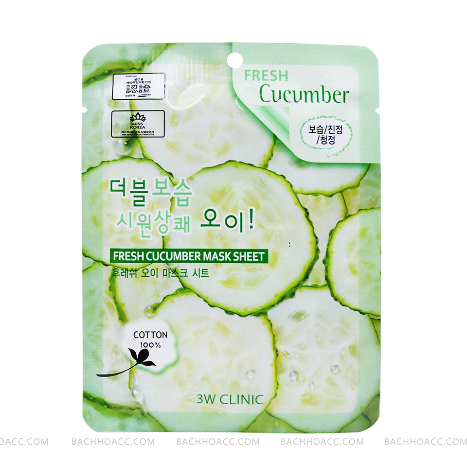 MẶT NẠ 3W CLINIC FRESH CUCUMBER MASK SHEET
