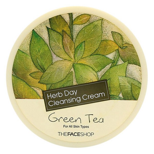 Kem Tẩy Trang Trà Xanh Herb Day Cleansing Cream Green Tea The Face Shop 150g