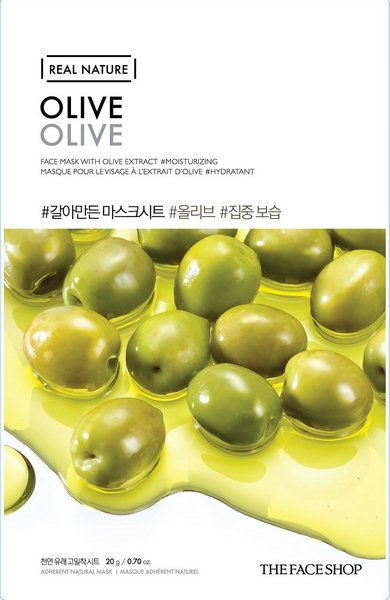 Mặt Nạ Giấy Dầu Olive The Face Shop Nature Olive Face Mask Hàn Quốc