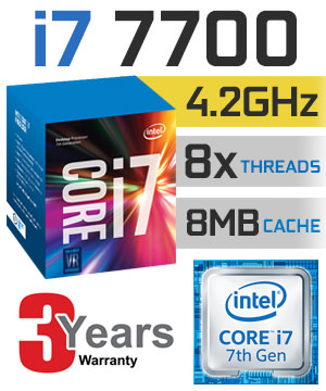 CPU Intel Core i7-7700 3.6 GHz / 8MB / HD 600 Series Graphics / Socket 1151 (Kabylake)