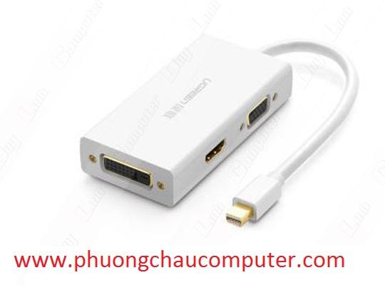 Cáp chuyển Mini Displayport to VGA + HDMI + DVI hỗ trợ 4k 2k Ugreen 20417 ( trắng )