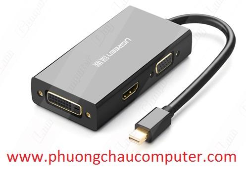 Cáp chuyển Mini Displayport to VGA + HDMI + DVI hỗ trợ 4k 2k Ugreen 20418