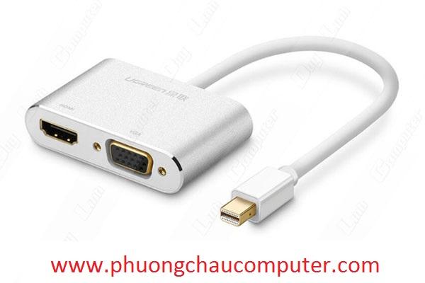 Cáp Thunderbolt sang HDMI + VGA Ugreen 20421 vỏ nhôm