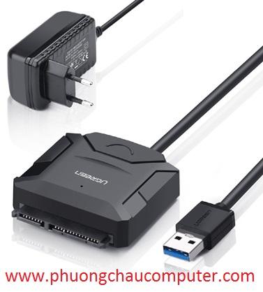 Cáp USB 3.0 To Sata Ugreen 20611 Dùng Cho HDD/SSD 2,5
