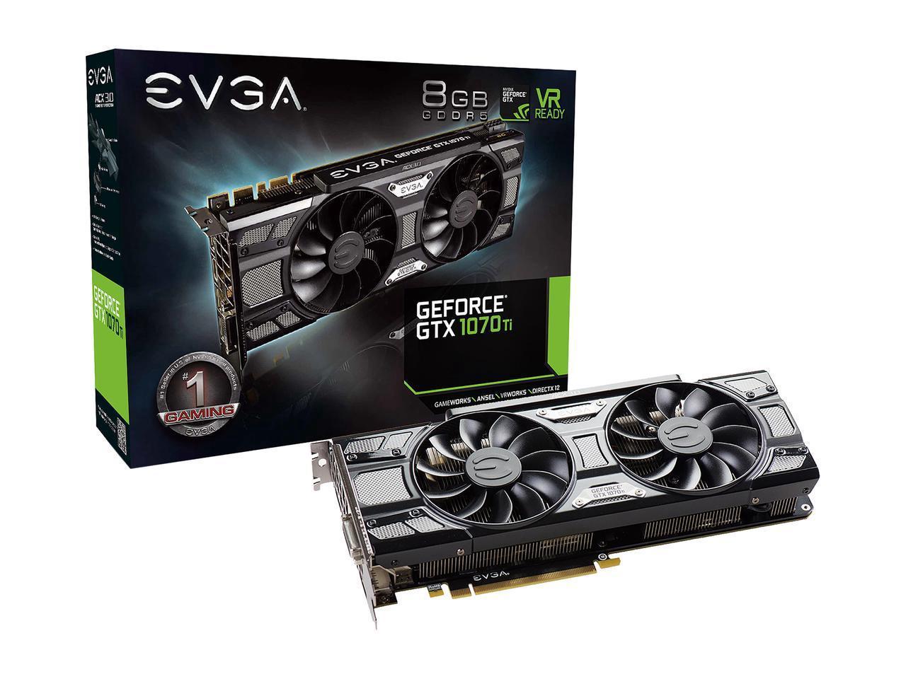 VGA EVGA Geforce GTX 1070Ti SC Gaming 8GB (08G-P4-5671-KR)