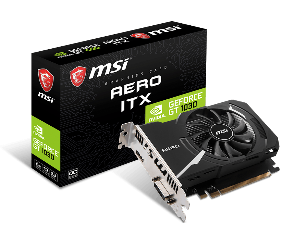 VGA MSI GeForce GT 1030 AERO ITX 2GD4-OC