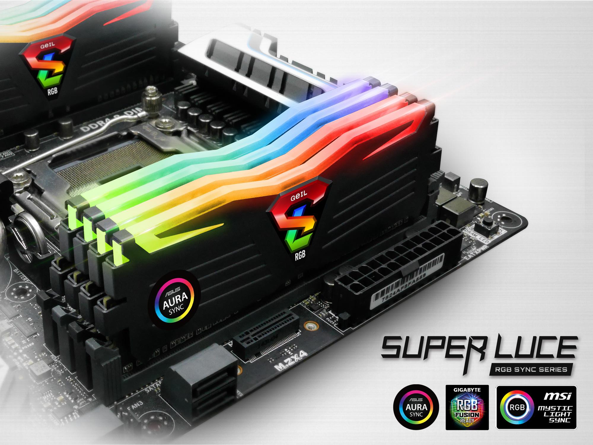 Ram GEIL 16GB (2x8GB) DDR4 3000MHz SUPER LUCE RGB