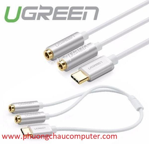 Cáp chuyển USB Type C ra Jack 3.5mm kép Ugreen AV144