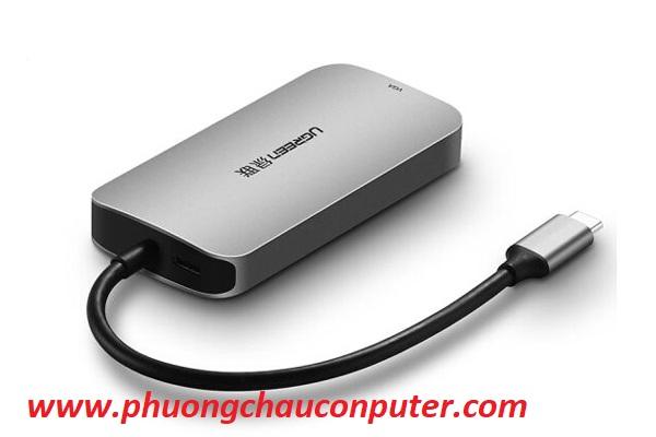 Cáp USB Type C to VGA, Hub USB 3.0 cao cấp Ugreen 50210