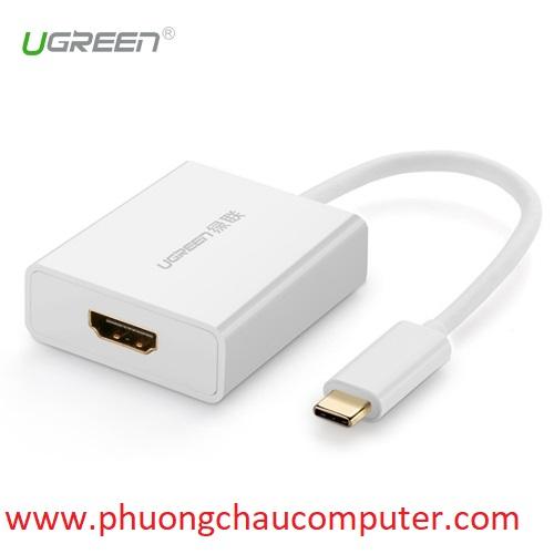 Cáp USB Type-C to HDMI cao cấp Ugreen 40273 hỗ trợ 4K*2K, 3D