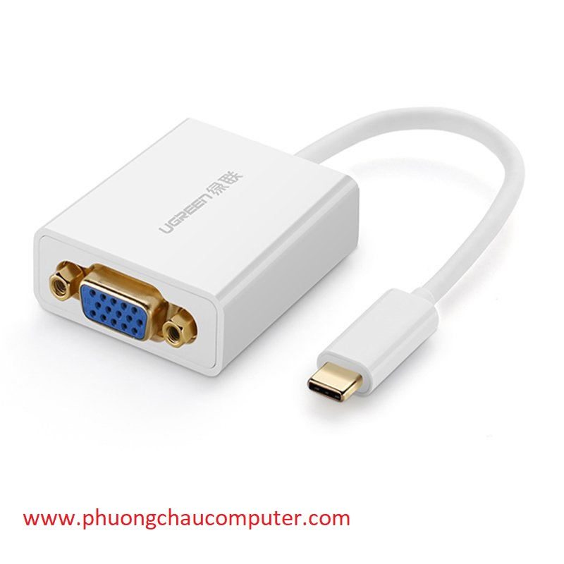 Cáp USB Type-C to VGA Ugreen 40274 cao cấp hỗ trợ 1080p