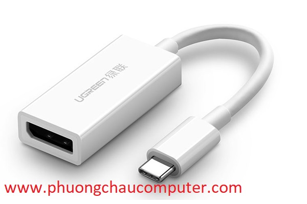 Cáp chuyển đổi USB Type C to Displayport (âm) Ugreen 40372 cao cấp