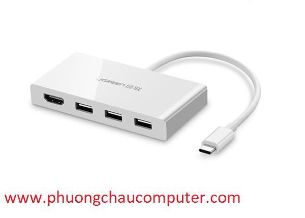 Cáp chuyển USB Type C to HDMI, hub USB 3.0 Ugreen 40374
