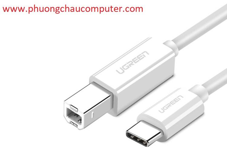 Cáp máy in USB Type C dài 1.5m Ugreen 40417 chính hãng
