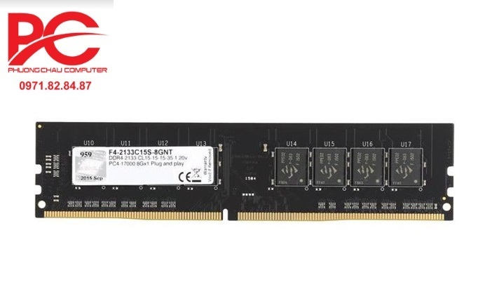 Ram GSKill DDR4 8GB bus 2133MHz - F4-2133C15S-8GNT