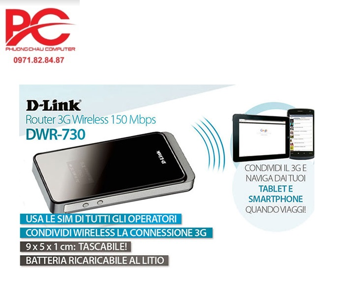 Bộ phát sóng Wifi 3G D-link DWR-730
