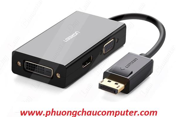 Cáp chuyển Displayport to VGA + HDMI + DVI hỗ trợ 4k 2k chính hãng Ugreen 20420
