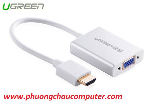 Cáp chuyển VGA to HDMI tích hợp Audio Ugreen 40263 chính hãng