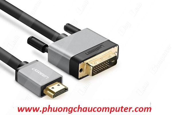 Cáp chuyển HDMI to DVI (24+1) dài 1,5M chính hãng Ugreen 20886