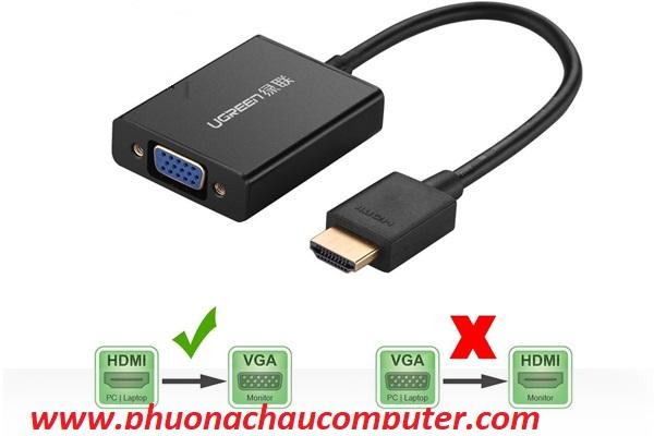 Cáp chuyển HDMI to VGA UGREEN 40233 cao cấp