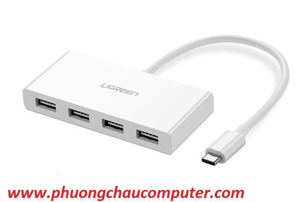 Cáp chuyển USB Type C sang 4 Cổng USB 3.0 Cao cấp Ugreen 40379