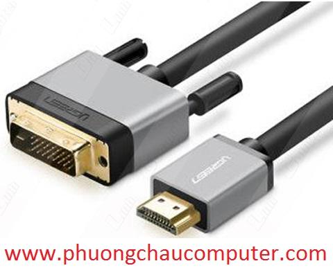 Cáp HDMI to DVI (24+1) dài 8M Ugreen 20890