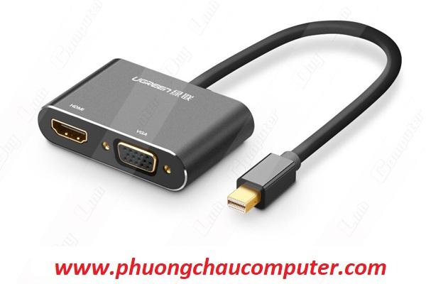Cáp Mini Displayport to VGA + HDMI chính hãng Ugreen 20422