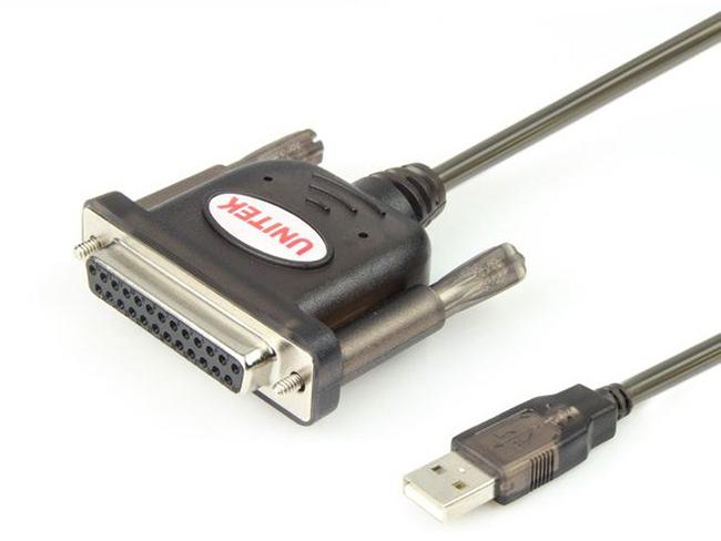 CÁP USB-DB25 1,5 MÉT UNITEK (Y-121)